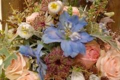 Brautstrauß lachs blau