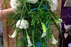Brautstrauß weiß-grün